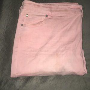 Celebrity Pink size 20 light pink skinny jeans